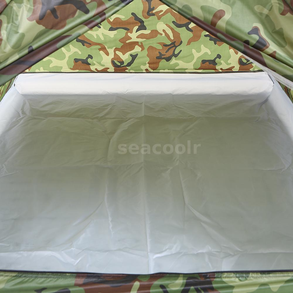 GROUNDSHEET /& PLASTIC TENT PEG /& PULLER SET in carry case box for camping