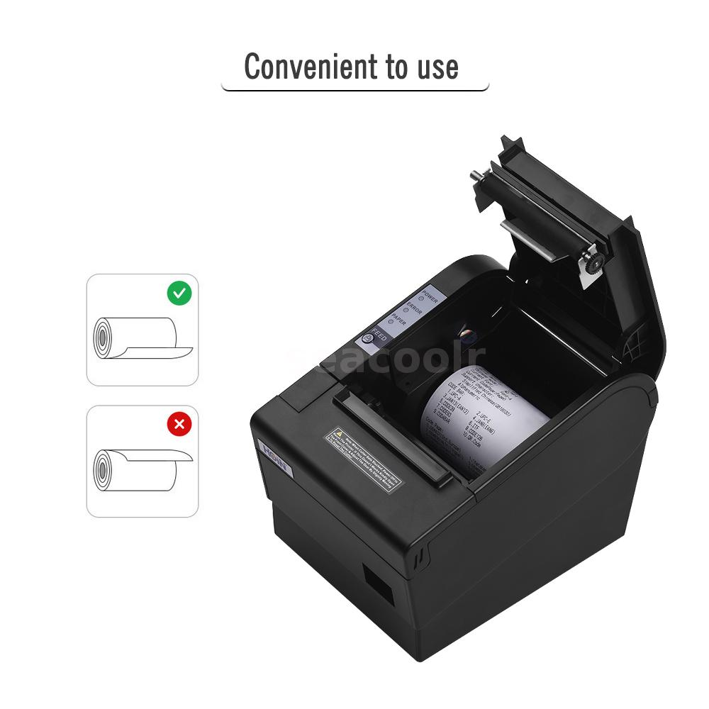 Details about AUTO-CUT 80mm USB Thermal Receipt Printer Label Cash Drawer  POS for Android D0L9